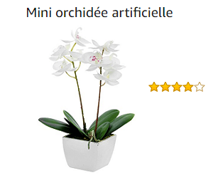 mini orchidée artificielle